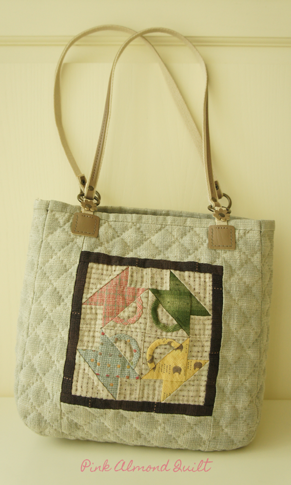 This bag is designed by Akemi Shibata.  - Pink Almond Quilt