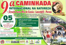 Caminhada Internacional de Lunardelli dia 05/06/2016