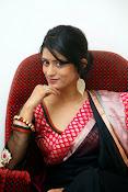 Nidhi Natuiyal Glamorous Photos in Saree-thumbnail-8