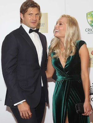 Shane Watson With His Wife Lee Furlong New Pictures ...