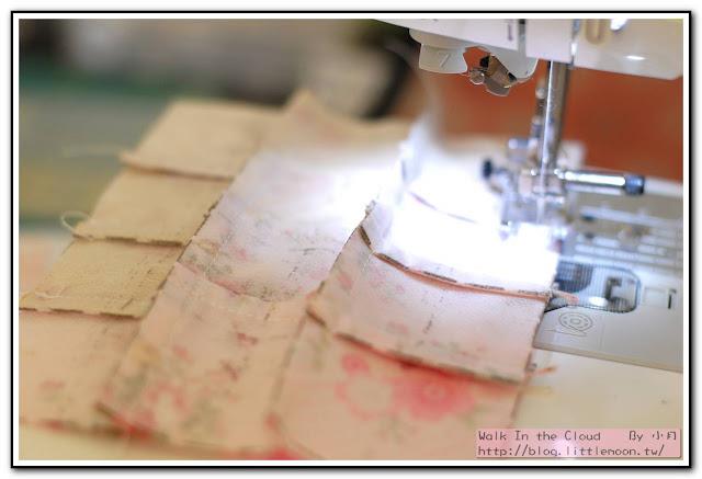 婚戒壁飾 - 車縫0.7cm縫份固定橫向