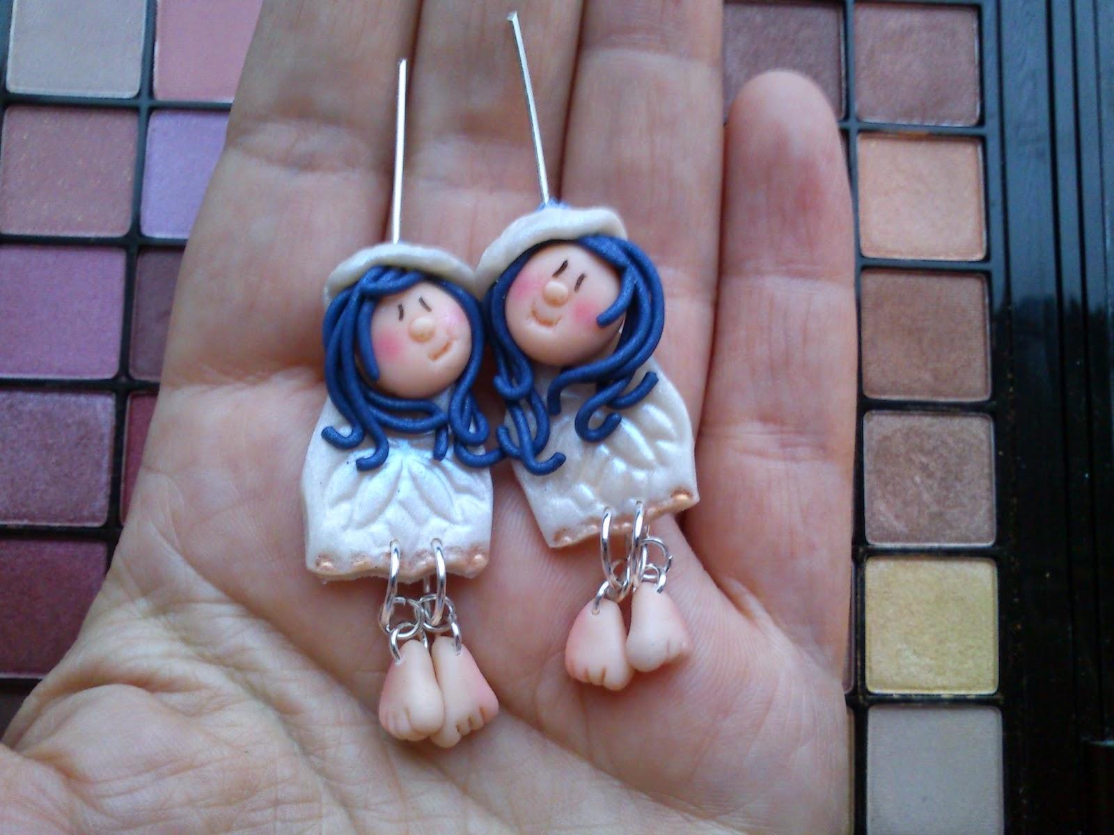 angels, earrings, kolczyki, anioły