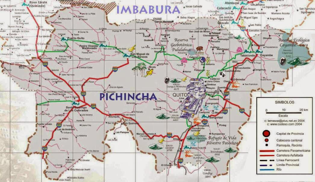 mapa provincial pichincha