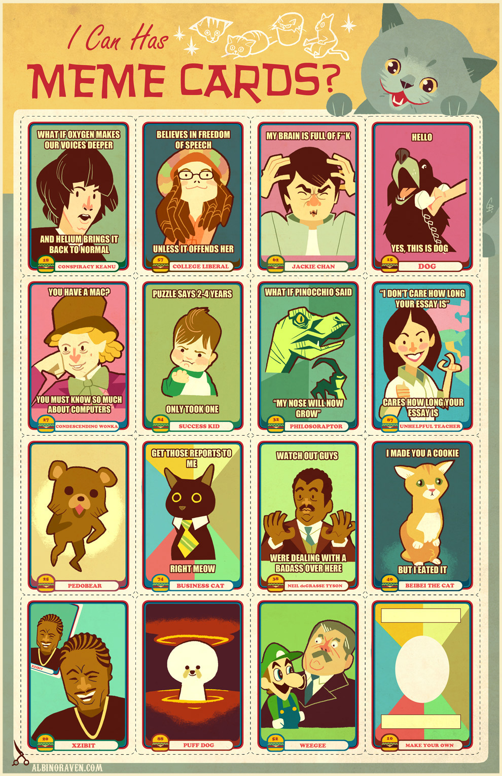 Meme trading cards awesome trade you two business cats for a