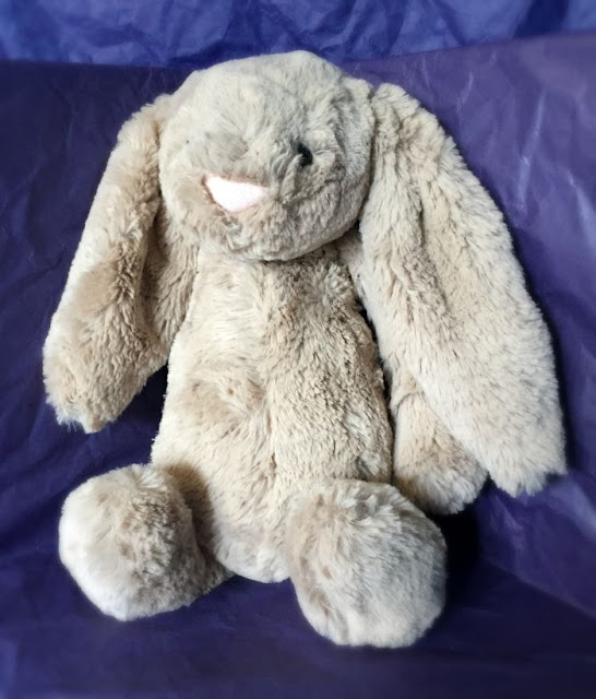 Jellycat Bears from Say It With Bears Review | Morgan's Milieu: Bashful Bunny, a cute teddy bear suitable for all ages.