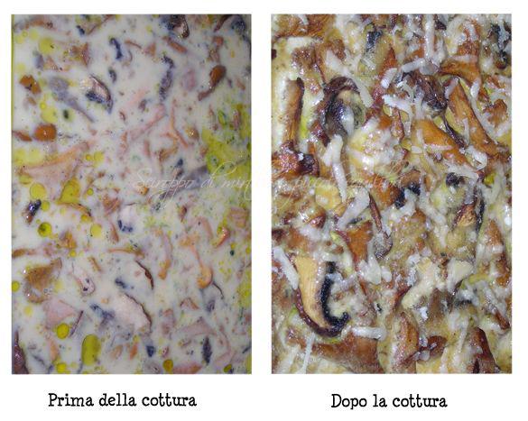 Cottura della Pizza di ceci con finferli