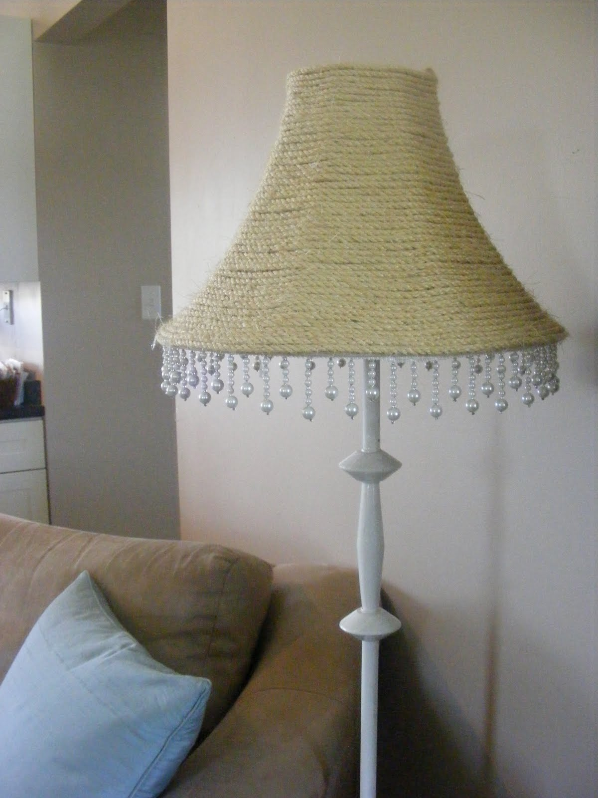 a nautitical inspired lampshade ropelampshadejpg a nautitical inspired lampshade: lighting living room complete guide
