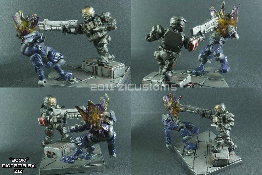 Minimates Halo Reach Halo Reach Diorama Mega Bloks