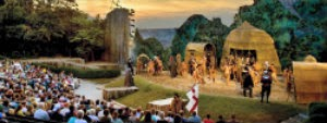 Image of the Lost Colony outdoor theatre in Manteo, NC