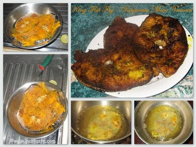 How to make King Fish Fry or Vanjaram Meen Varuval