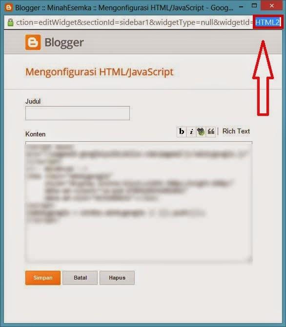 Cara Menampilkan Widget Hanya di Homepage/Postingan