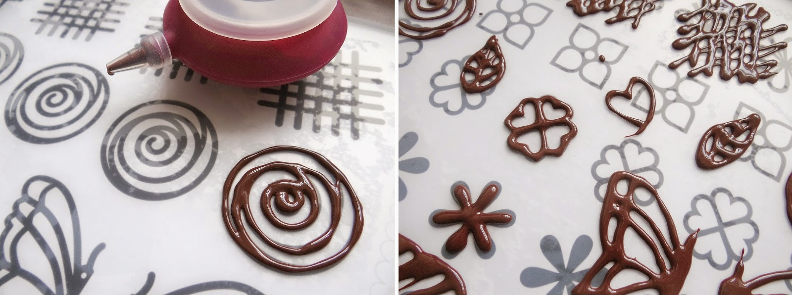 Lekue chocolate making, silicone baking mat, silicone chocolate decorating set