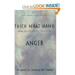 Cover of book. Marbled grayish-blue wash of color with no distinctive shape. Printed on the jacket is National Bestseller, Thich Nhat Hanh, author of Living Buddha, Living Christ, ANGER, Wisdom for Cooling the Flames.