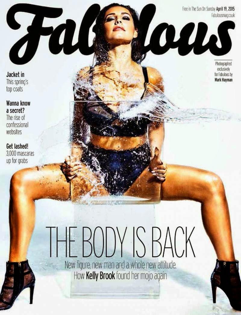 Actress, Model @ Kelly Brook - Fabulous Magazine, April 2015