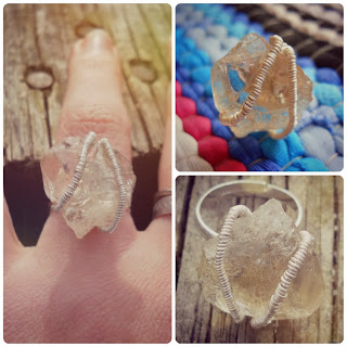 Molly Lenore Etsy Raw Quartz Sterling Silver Reiki White Magic Ring