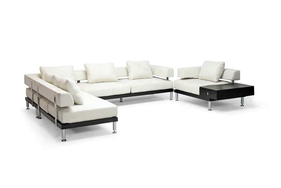 Comfortable And Stylish The Baxton Studio Emma Cream Microfiber  Contemporary Modular Sectional Sofa Chair Set Is A Beautiful Sofa Set  Crafted From ...