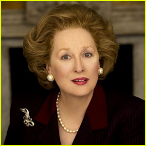 Meryl Streep playing Baroness Margaret Thatcher