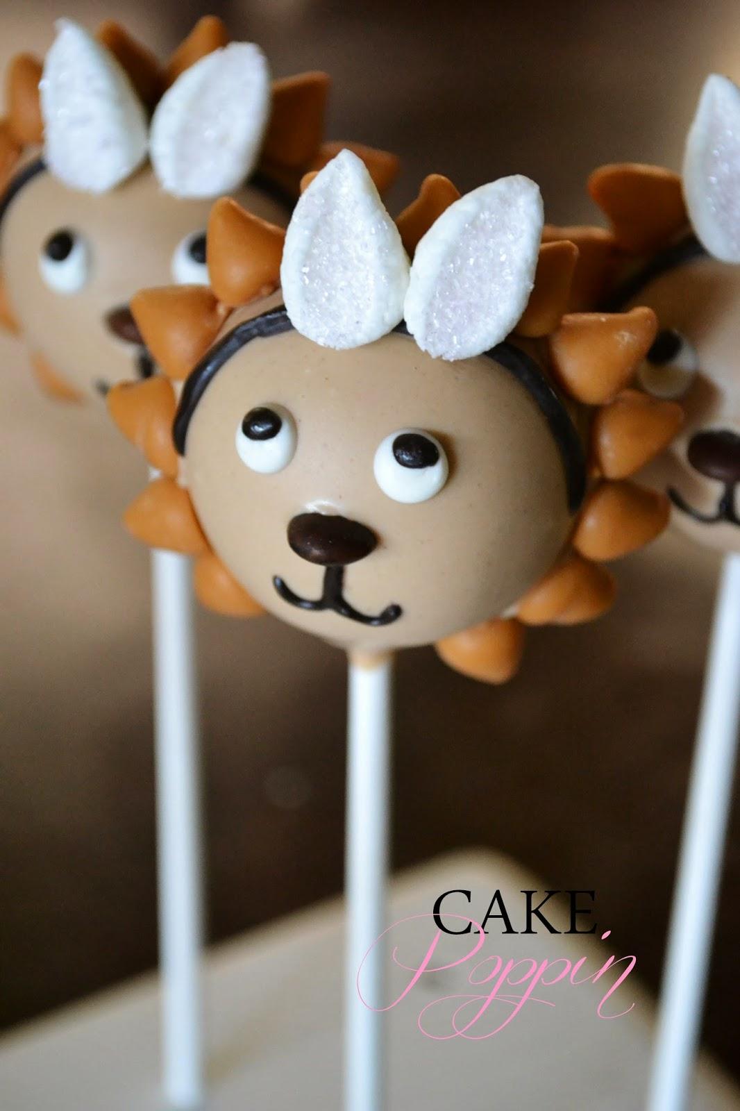 how to make lion king cake pops