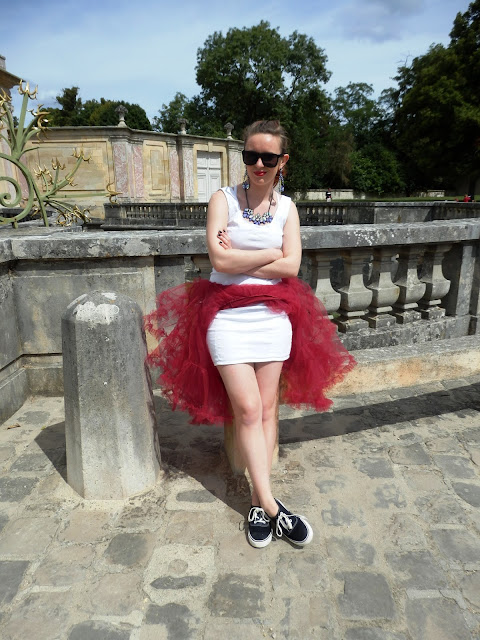 Versailles Chanel Red and White Panniers