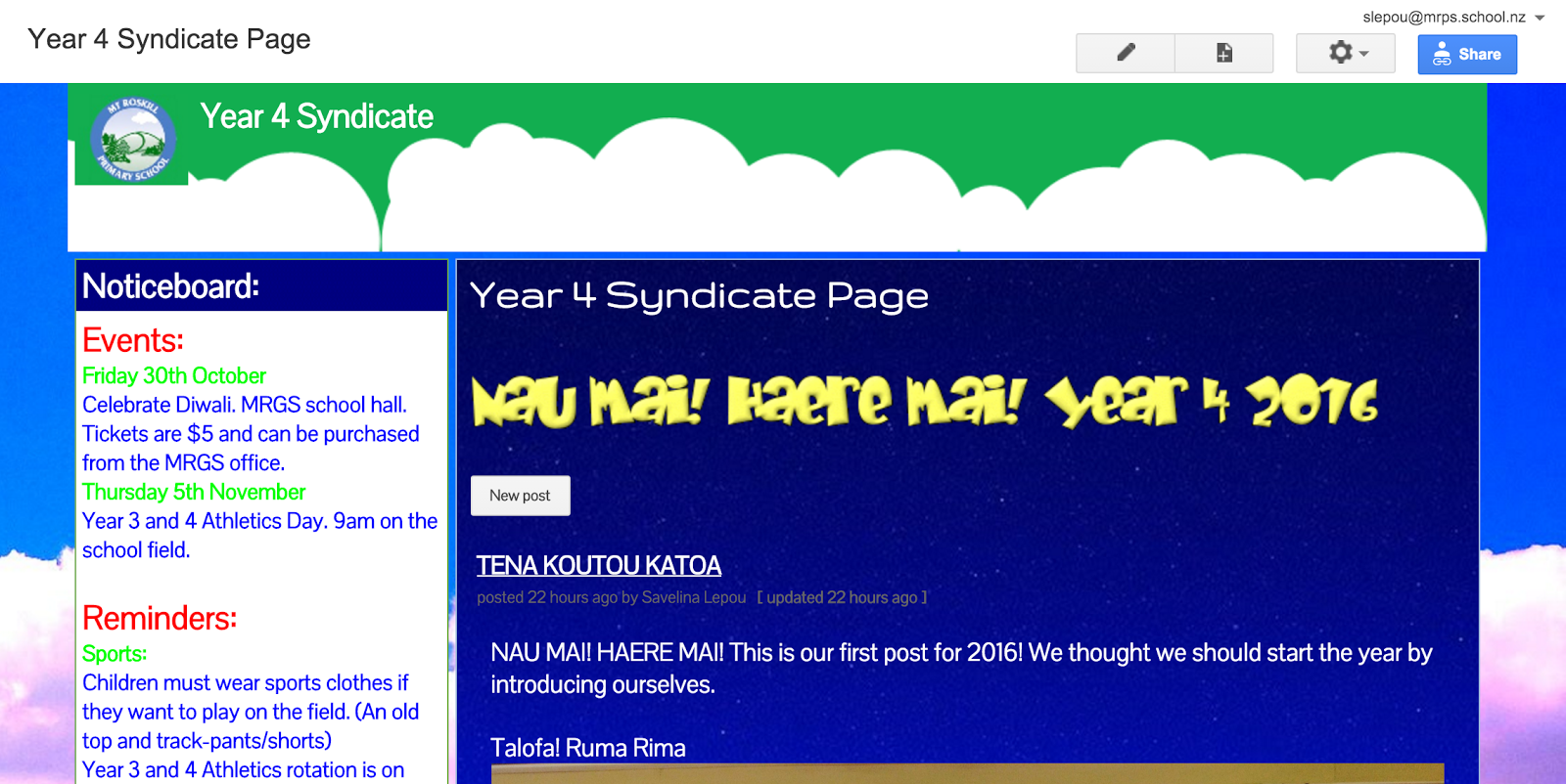 Year 4 Syndicate Webpage