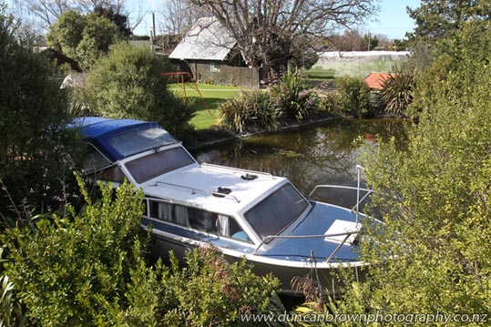Holiday accommodation - Got family coming for the holidays? They could try something a bit different - and inexpensive - with this 30-foot self-contained boat on a peaceful rural property, just minutes from both Hastings and Havelock North. photograph