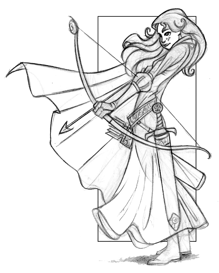 merida brave coloring pages - Brave Coloring Pages