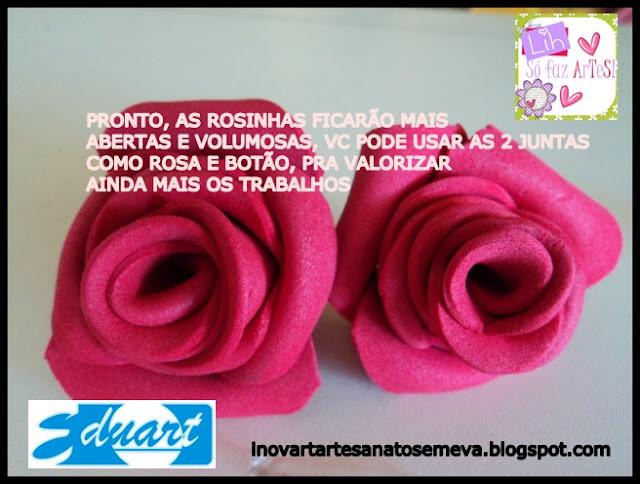 PAP - ROSAS EM E.V.A VOLUMOSAS