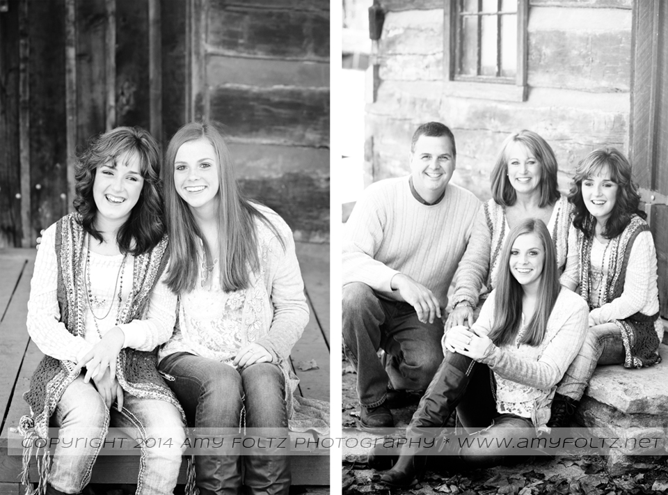 family photo session at Terre Haute's Fowler Park