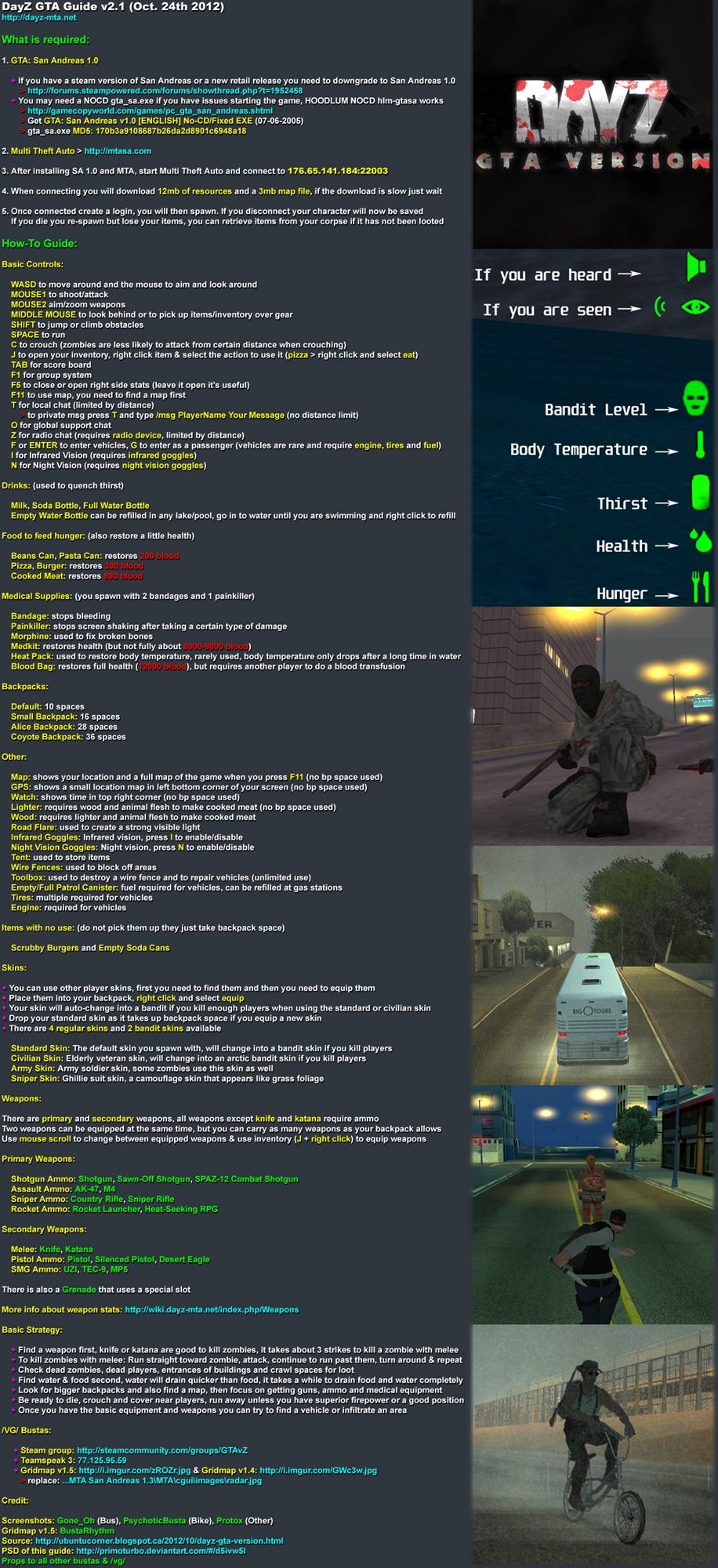 GTA DayZ Guide