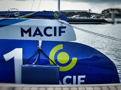 Macif de retour à Lorient après sa victoire sur la Transat Jacques Vabre.