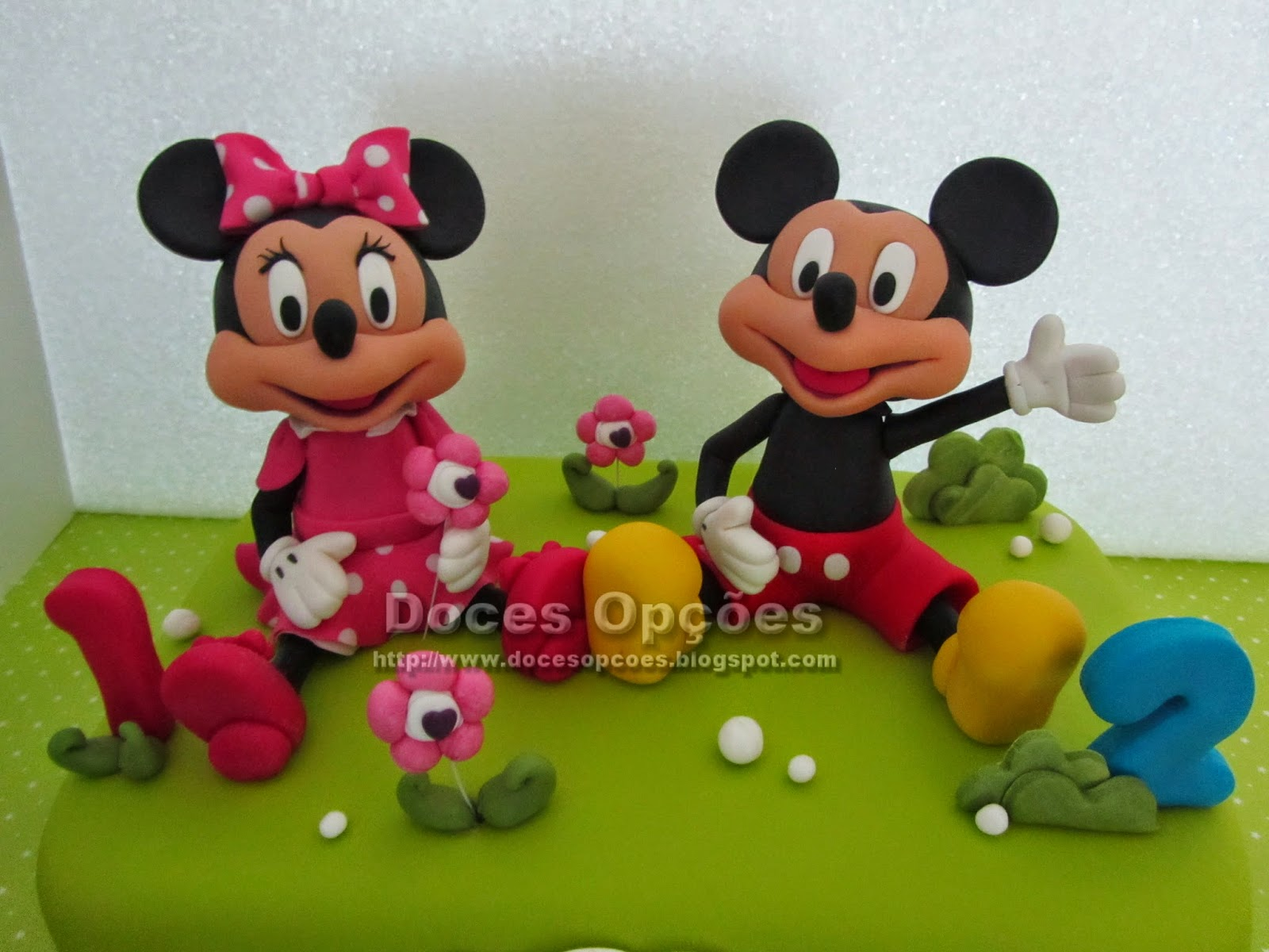 disney minnie mickey sugar paste cake