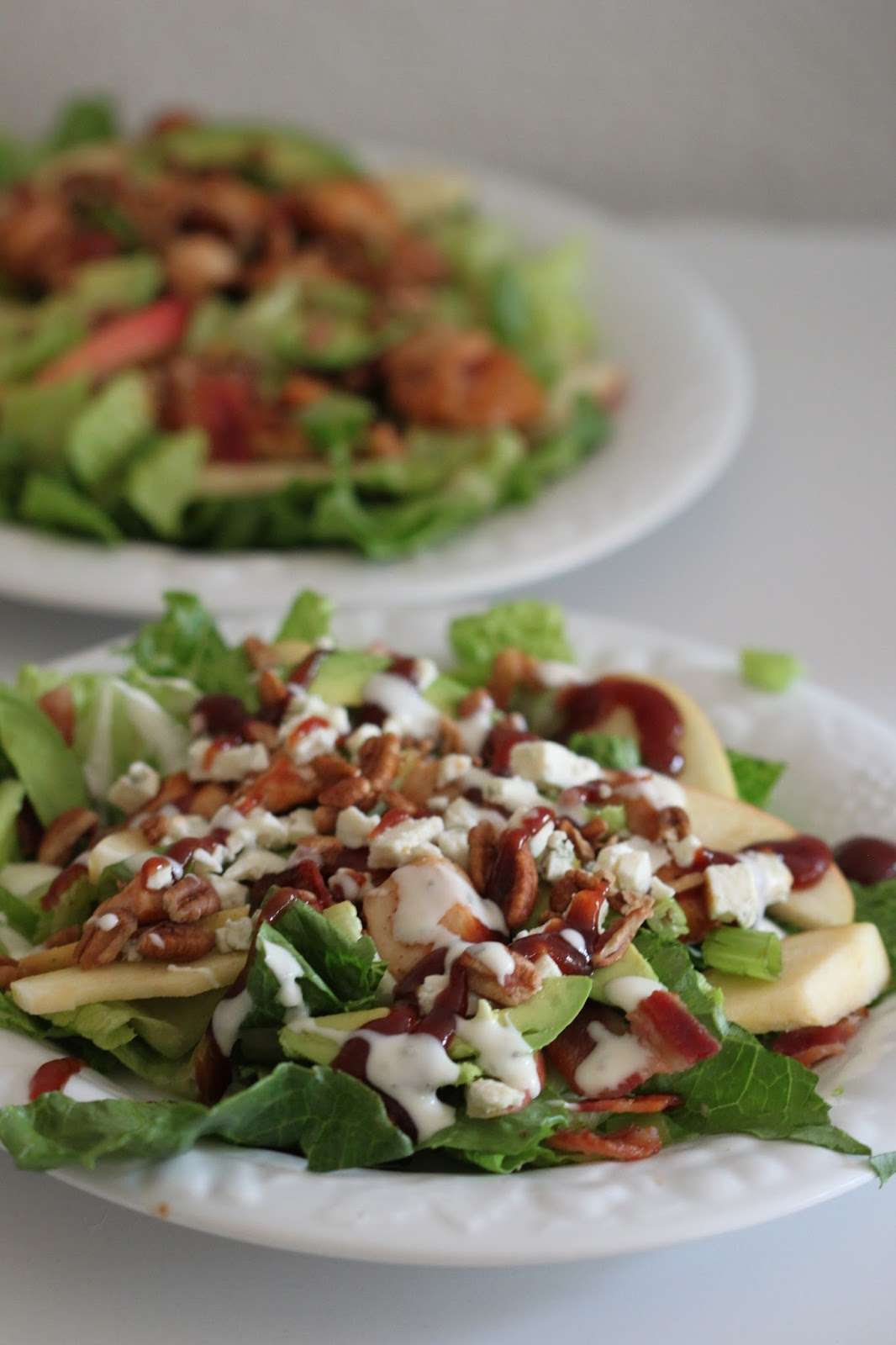 BBQ Chicken Salad with Bacon