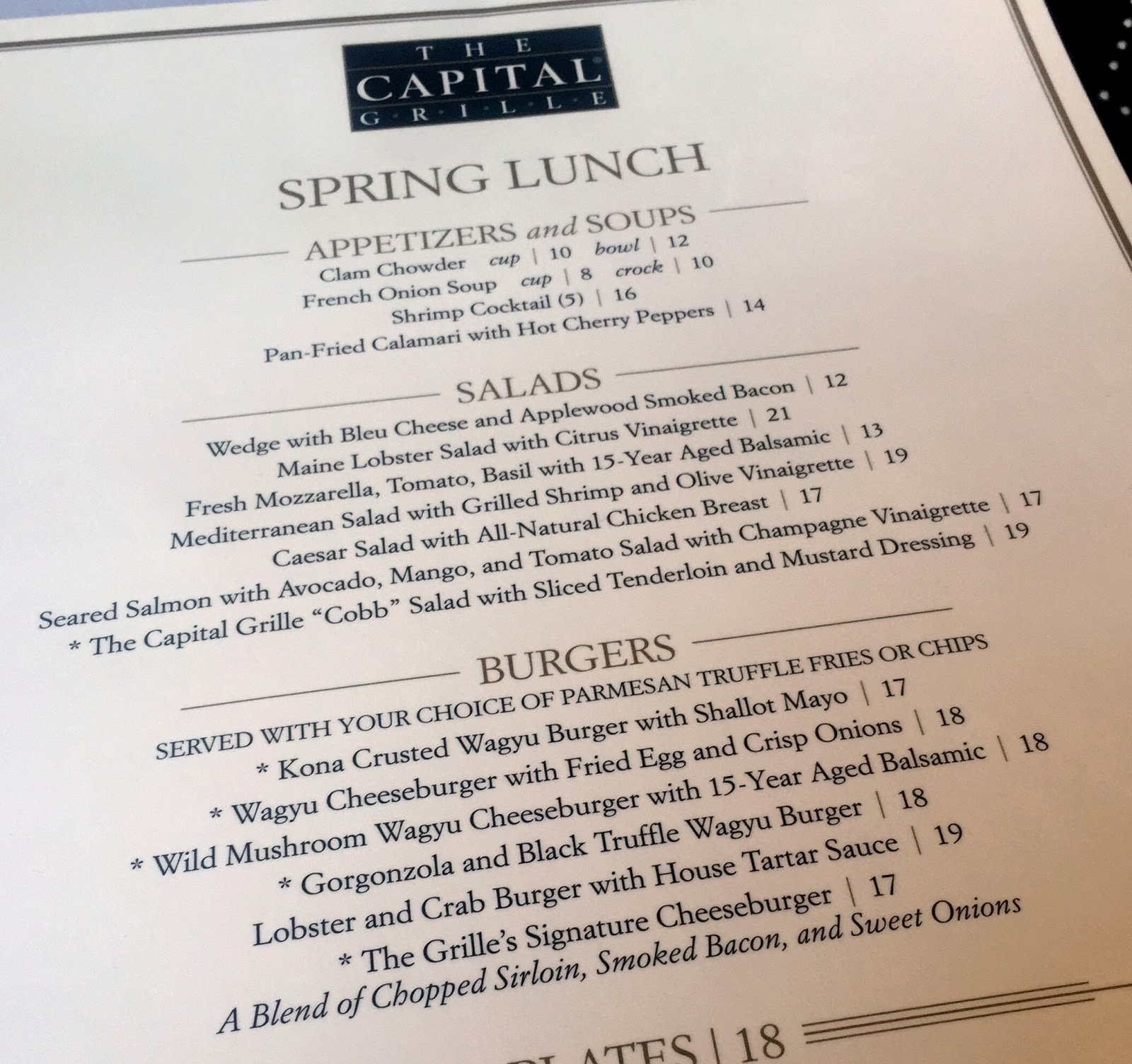 Restaurant Review: The Capital Grille   The Food Hussy!