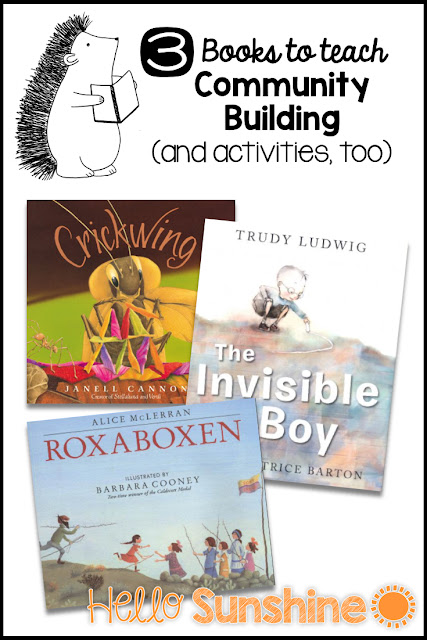 Back to School Picture Books to Teach Community Building - Cricking + The Invisible Boy + Roxaboxen