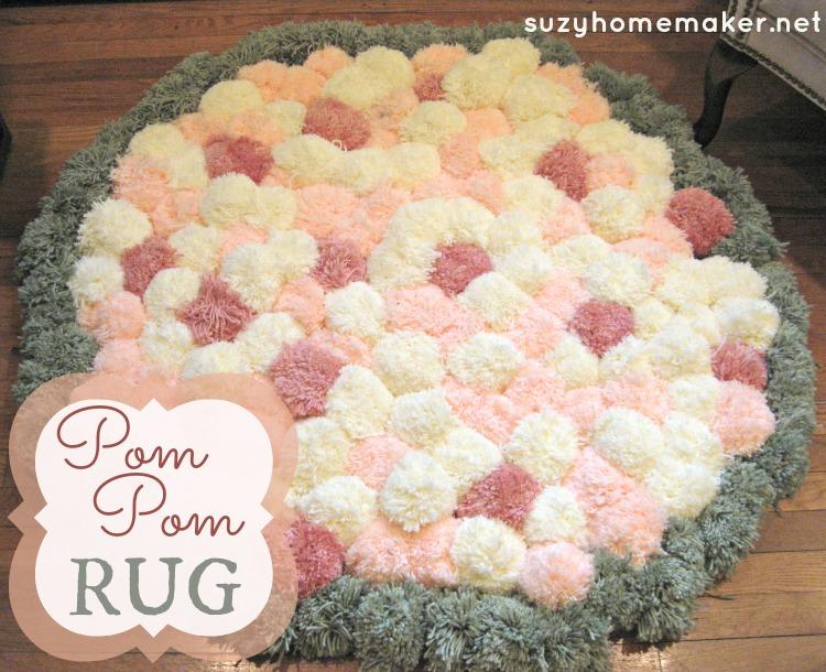 pom poms, project, rug
