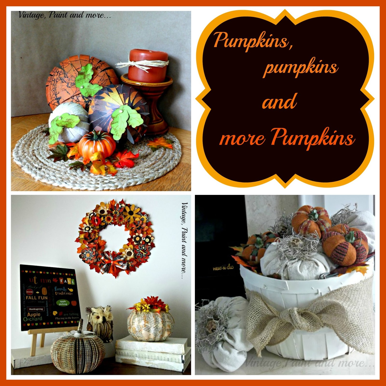 Vintage, Paint and more... pumpkin collage