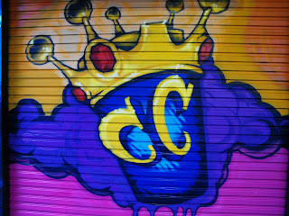 Crown coffee shop hobart tasmania australia hand painted grafitti mural