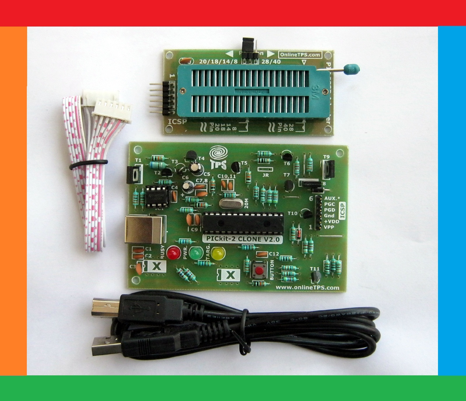 Tested Ok Projects Pickit2 Clone Microchip Pic Microcontroller Combination Lock Using Pic16f84 New Fast Usb Programmer Dip Package Adopter With Mcu Facility Protect Your Code Hex