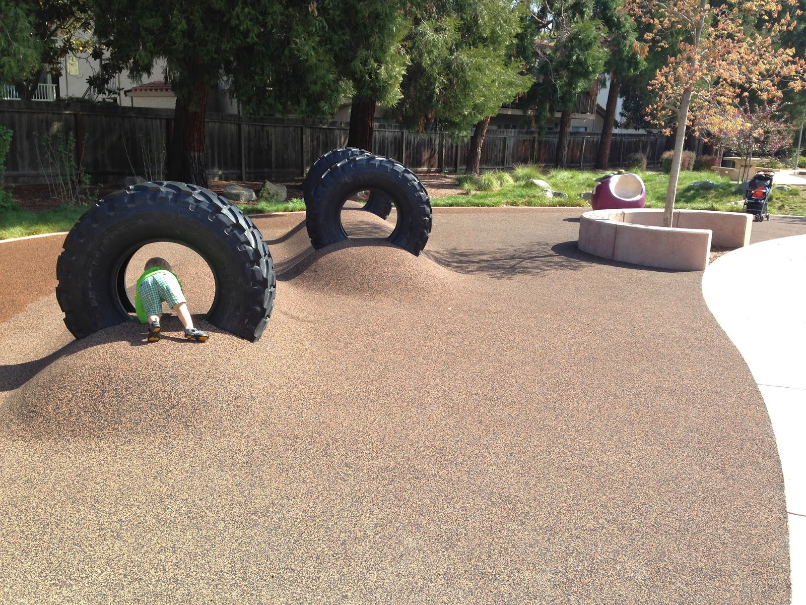 Silicon valley toddler and beyond playground review for Tire play structure