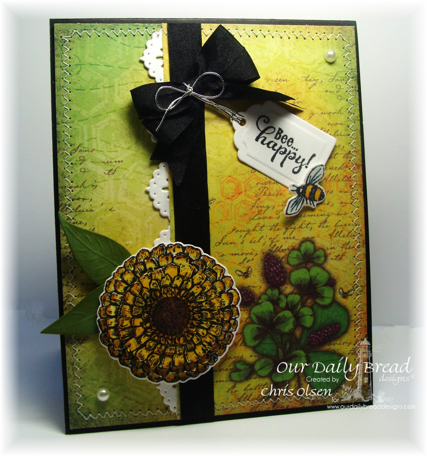 Stamps - Our Daily Bread Designs Zinnia, Be Happy, ODBD Custom Zinnia and Leaves Die, ODBD Custom Recipe Card and Tags Dies, ODBD Custom Beautiful Borders Dies, ODBD Blooming Garden Paper Collection