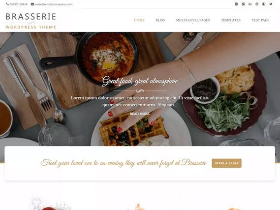 Brasserie Wordpress theme