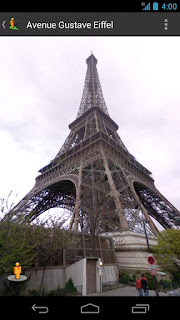 google street view android -  eiffel paris