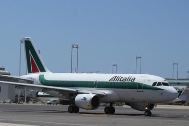 Alitalia Airbus in Rome Fiumicino