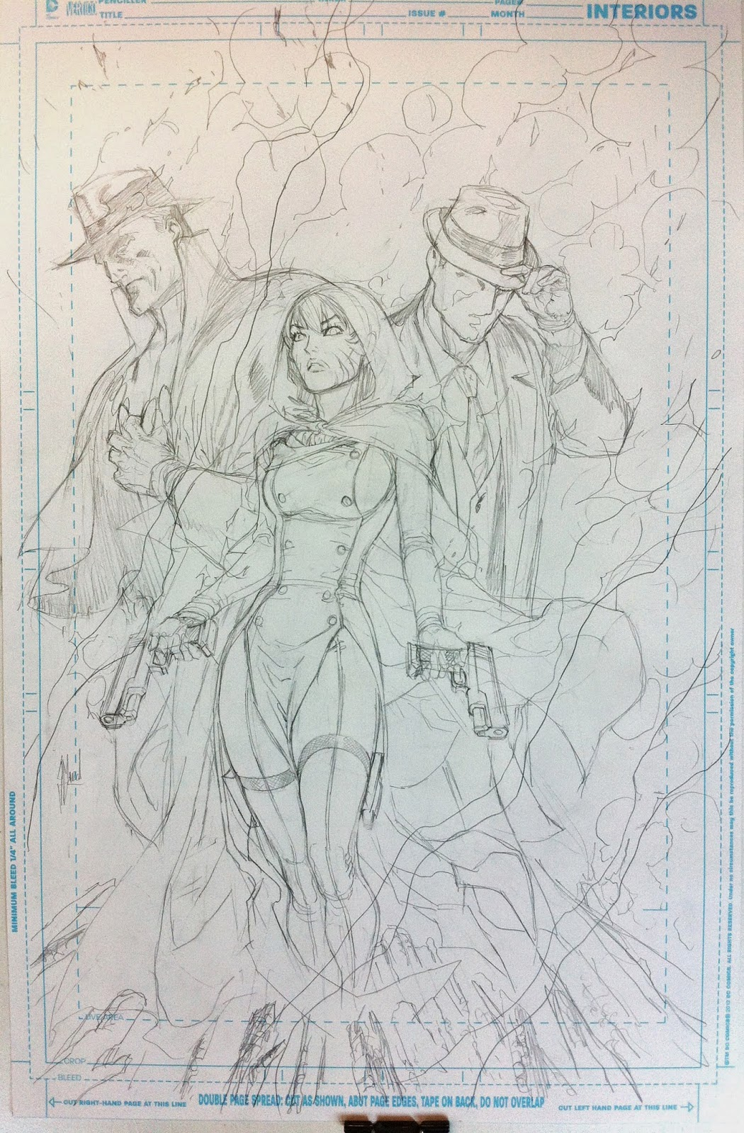 TRINITY OF SIN #1 cover process by Guillem March