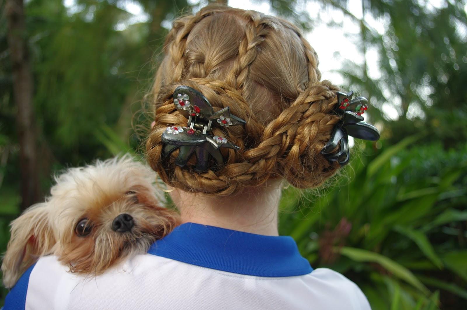 Прически на средние волосы фото с крабиком