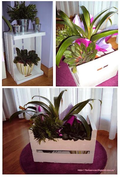 Cajas de madera para decorar tu boda bodas for Decorar cajas de fruta para boda