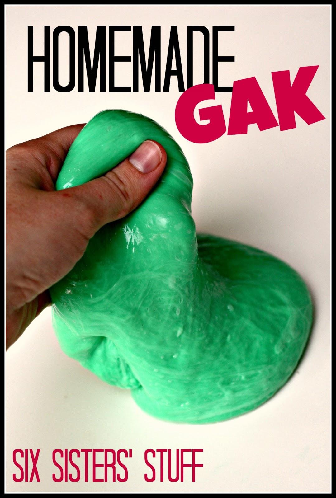 how to make homemade gak