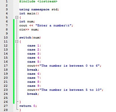 What is switch statement in c++ — pic 1