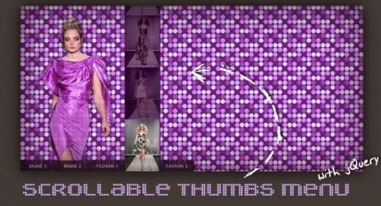 Scrollable Thumbs Menu