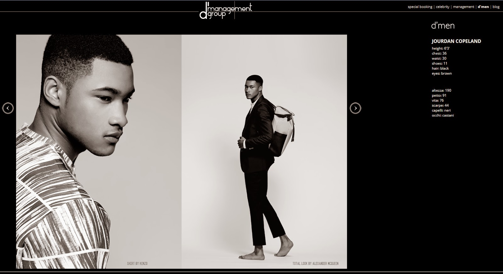 Jourdan Copeland @ dmanagement Group Milan
